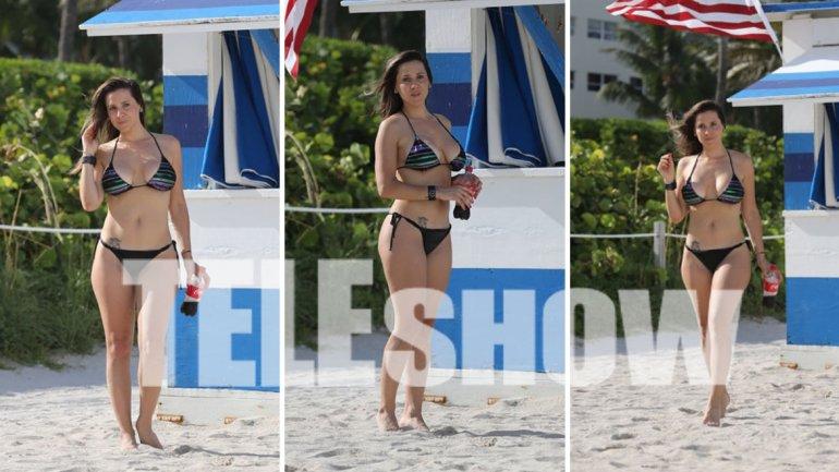 Julieta Camaño, sexy en Miami