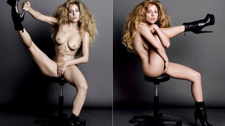 Lady Gaga Naked: Pussy, Tits and Ass