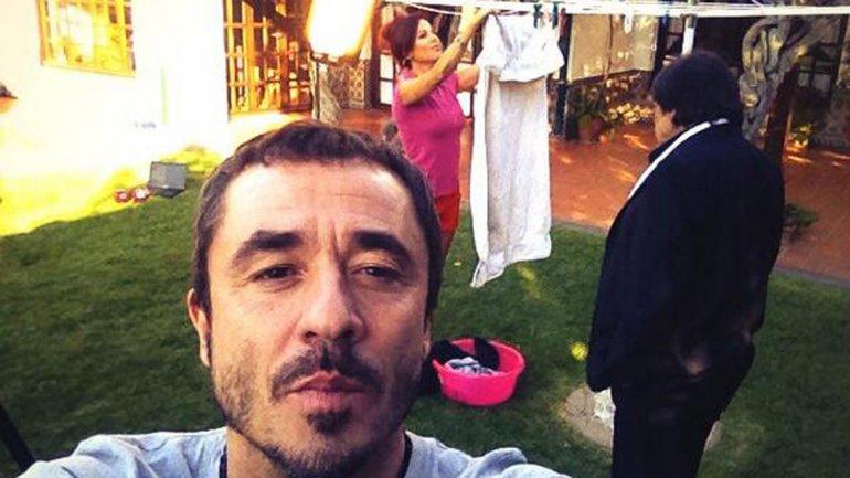 Pablo Granados con Iliana Calabró y Cacho Castaña