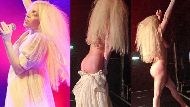 Lady Gaga, completamente desnuda en un show