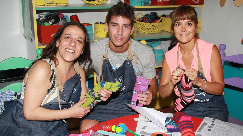 Julia Calvo, Vico y Andrea Pietra.