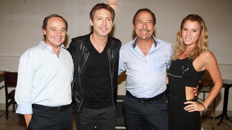 Pablo Codevilla,Guillermo Francella, Adrián Suar y Gimena Accardi