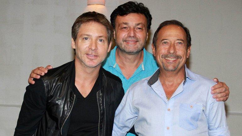 Adrián Suar, el director Marcos Carnevale y Guillermo Francella