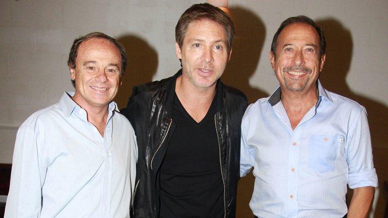 Pablo Codevilla, Adrián Suar y Guillermo Francella