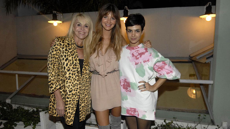 Claudia Villafañe, Marcela Kloosterboer y Agustina Cherri