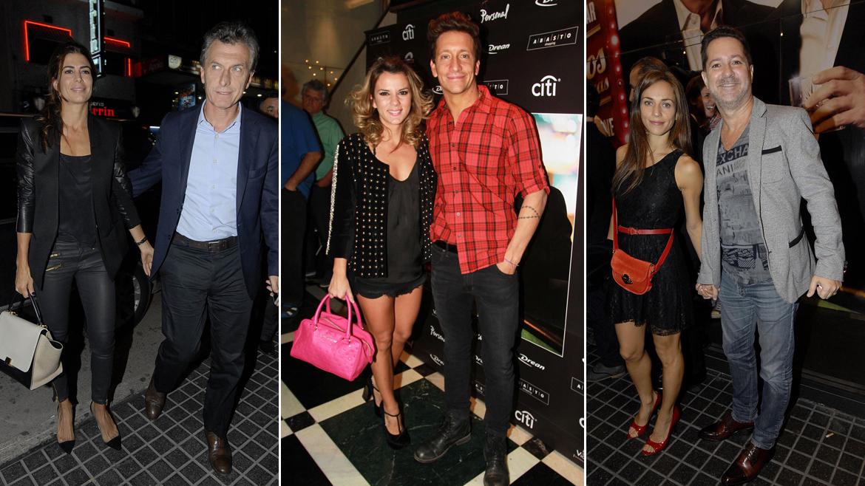 Mauricio Macri con Juliana Awada, Gimena Accardi con Nico Vázquez y Paul Suar con Judith Kovalovsky