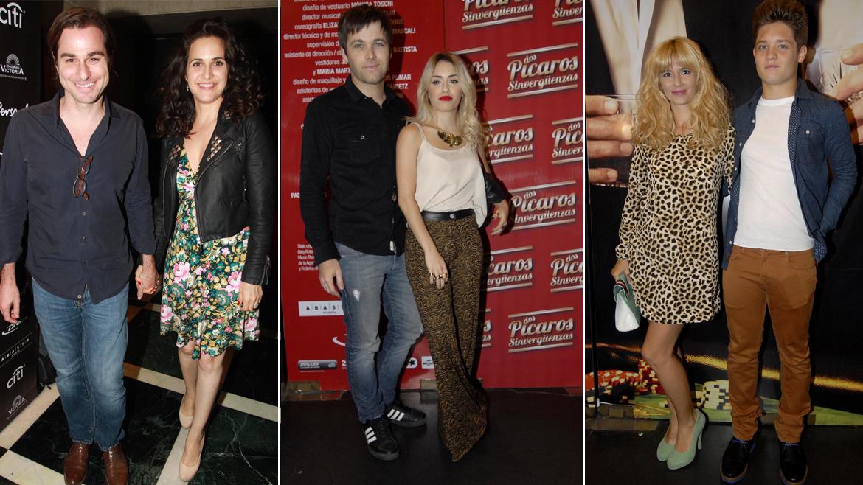 Julieta Díaz con su pareja, Lali Espósito con Benjamín Amadeo y Leticia Siciliani con Toto Suar