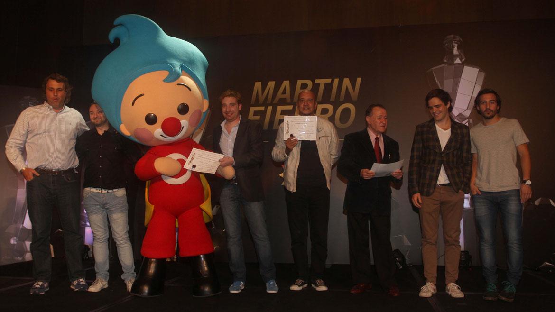 Entrega de diplomas de los Premios Martín Fierro
