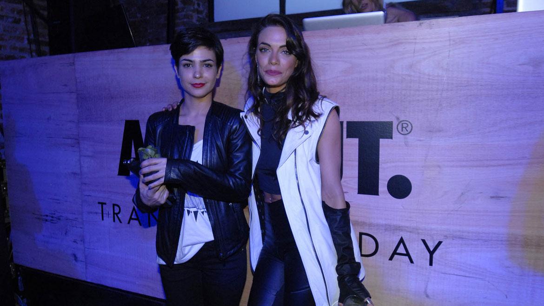 Emilia Attias junto a la actriz, Agustina Cherri