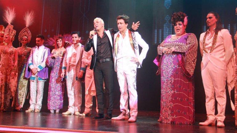 Flavio Mendoza y Nico Vázquez en el estreno de Stravaganza Tango