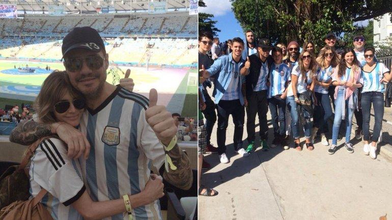 Marcelo Tinelli, Guillermina Valdés y toda la comitiva que viajó a Río de Janeiro
