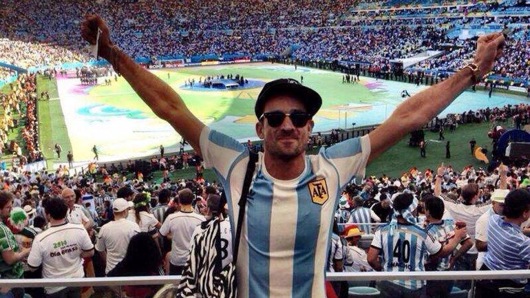 Chano de Tan Biónica no se quiso perder la final del Mundial
