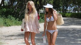Cris Morena y Sofía Reca en Miami