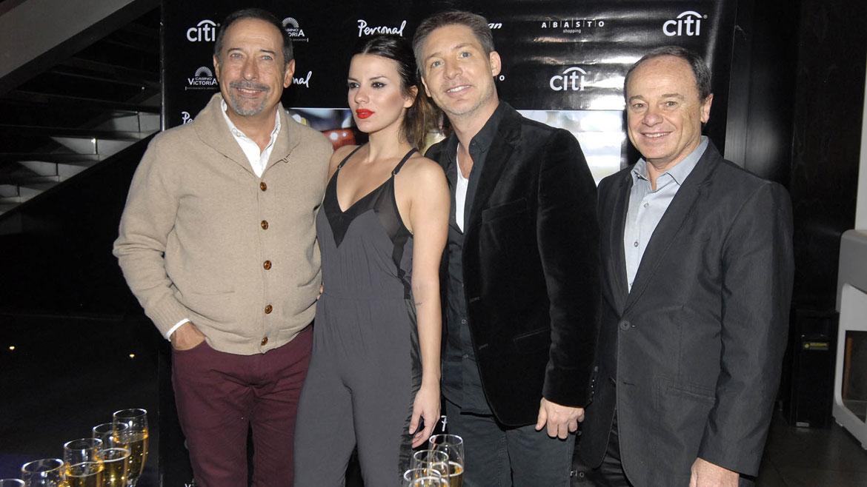 Guillermo Francella, Gimena Accardi, Adrián Suar y Pablo Codevilla