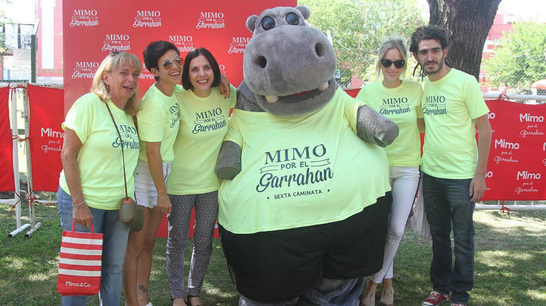 Famosos en la caminata Mimo por el Garrahan