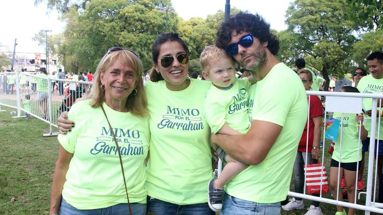 Beatriz Resnik, Maju Lozano, Milo y Mariano Martínez,en la caminata Mimmo por el Garrahan