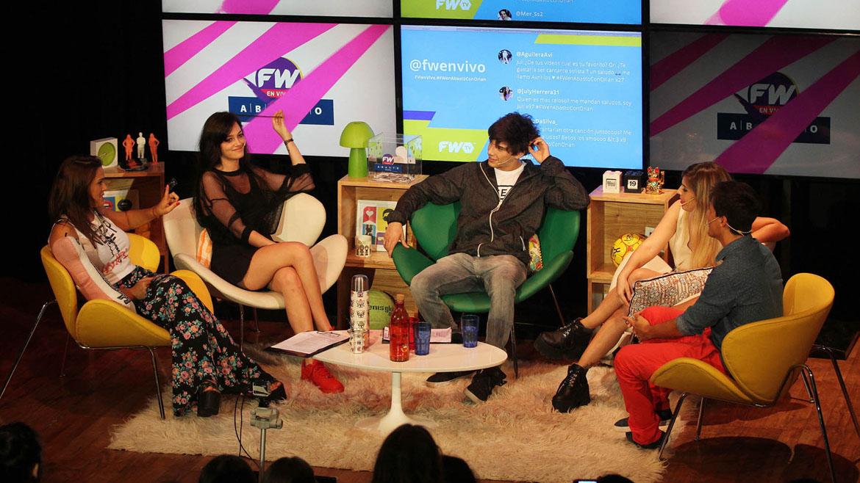 Oriana Sabatini y Julián Serrano en el programa FW en Vivo