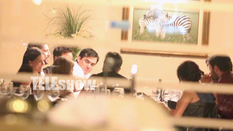 Después del show se fueron a cenar al restaurante Los Mirasoles de Puerto Madero