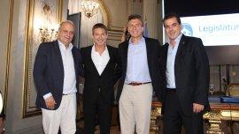 Hernán Lombardi, Adrián Suar, Mauricio Macri y Cristian Ritondo