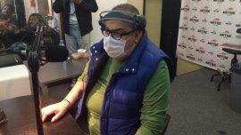 Jorge lanata en su regreso a Mitre tras el trasplante