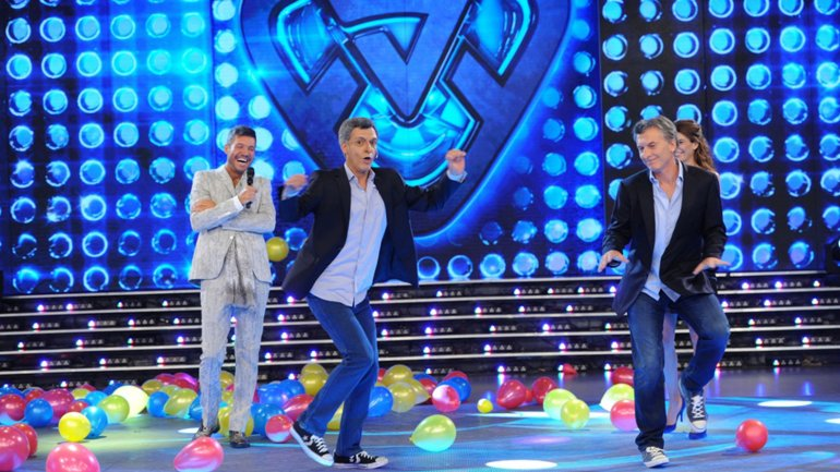 Macri baila con Martín Bossi