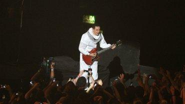 Mollo, en el escenario del Luna Park