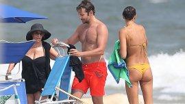 Bradley Cooper junto a Irina Shayk y su mamá