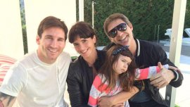 Lionel Messi, Griselda Siciliani, Adrián Suar y su hija Margarita