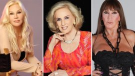 Susana Giménez, Mirtha Legrand, Moria Casán