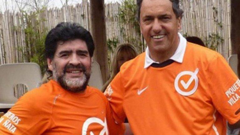 Diego Maradona y Daniel Scioli