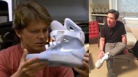 Es lo más justo: Michael J. Fox recibió el primer par de las Nike del futuro