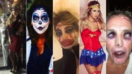 Los famosos festejaron Halloween
