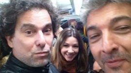 Calamaro y Darín, yendo a cenar en el metro de Madrid