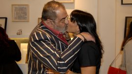 Jorge Lanata y Sara Stewart, a los besos
