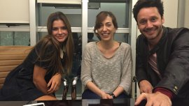 Vicuña y Suarez, con la directora Daniela Goggi