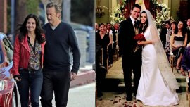 Monica Geller y Chandler Bing de Friends, pareja en la vida real