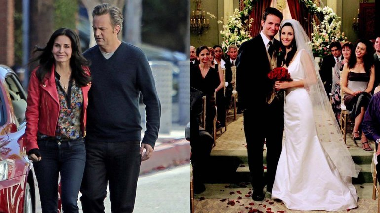 Friends: Monica y Chandler, pareja en la vida real