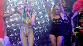 Miley Cyrus y Pamela Anderson