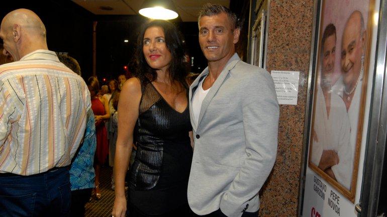 Sergio Goycochea y su mujer
