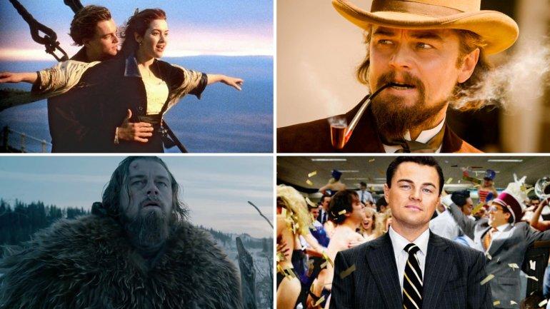 Leonardo DiCaprio en diferentes papeles