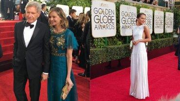 Harison Ford y Clasita Flockhart pasaron por la alfombra roja de los Globos de Oro