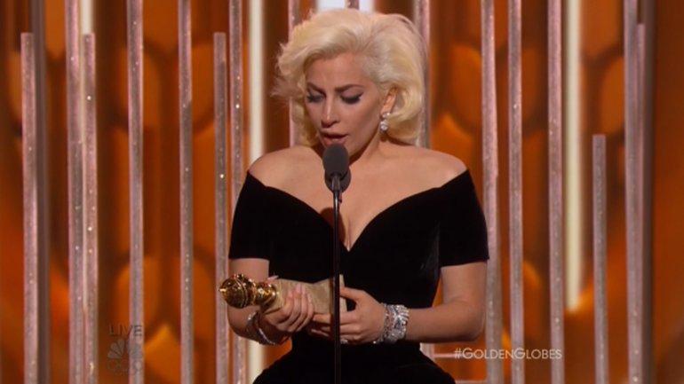 Lady Gaga, ganó como Mejor Actriz de miniserie por American Horror Story
