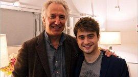 Alan fue uno de los primeros de los adultos en tratarme como un colega y no como un niño, dijo Radcliffe