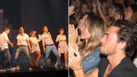 Jimena Barón y su pareja disfrutaron del teatro