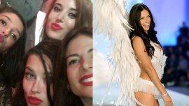 Jessica Cirio y Adriana Lima cenaron juntas y se sacaron selfies