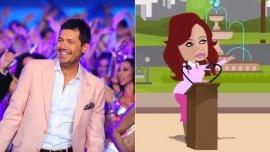 Marcelo Tinelli y Cristina Fernández de Kirchner por Viviana Sarnosa