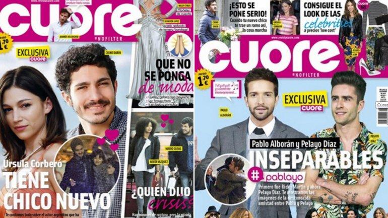 El romance del Chino con Úrsula llegó a las revistas españolas