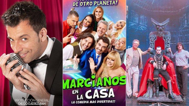 Bossi Big Bang Show, Marcianos en la casa y Drácula, el musical