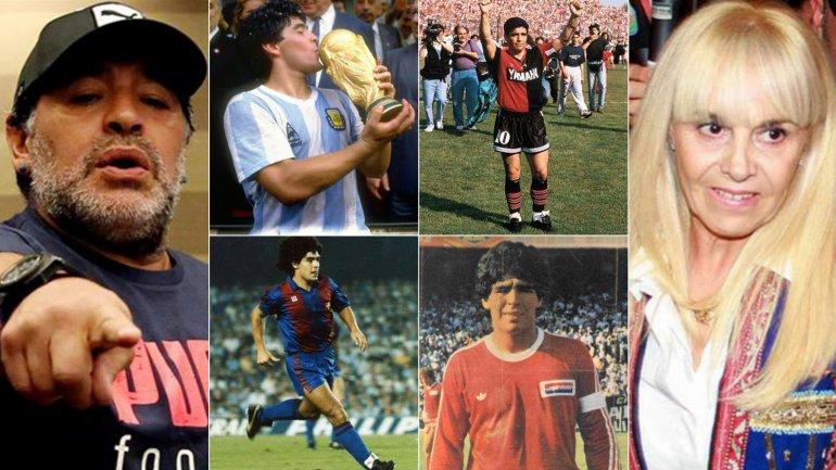 Diego Maradona le reclama sus objetos a Claudia Villafañe