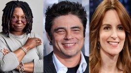 Whoopi Goldberg, Benicio Del Toro y Tina Fey